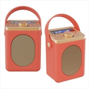 Majority Little Shelford DAB/DAB+ Radio with Bluetooth-Red-2PK   Hardware Electrical