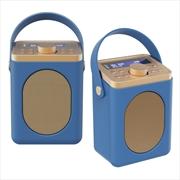 Majority Little Shelford DAB/DAB+ Radio with Bluetooth-Midnight Blue-2PK   Hardware Electrical
