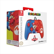Switch Faceoff Deluxe Audio Wired Controller Mario | Nintendo Switch