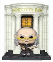 Harry Potter - Gringotts Head Goblin with Gringotts Bank Diagon Alley Pop! Deluxe | Pop Vinyl
