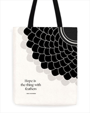 Emily Dickinson Feathers Tote | Apparel