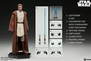 "Star Wars: Clone Wars - Obi-Wan Kenobi 1:6 Scale 12"" Action Figure   Merchandise"