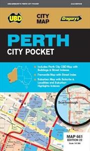 Perth City Pocket Map 661 22nd ed (City Map) | Sheet Map