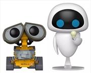 Wall-E - Cooler Wall-E & Bulb Eve US Exclusive Pop! Vinyl 2-Pack [RS] | Pop Vinyl