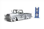 Just Trucks - Chevy Stepside Pick Up 1955 Silver 1:24 Scale Diecast Vehicle   Merchandise