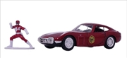Power Rangers - 1967 Toyota 2000 GT with Red Ranger 1:32 Scale Hollywood Ride | Merchandise