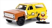SpongeBob SquarePants - 1980 Chevy K5 Blazer with SpongeBob 1:32 Scale Hollywood Ride | Merchandise