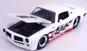 Big Time Muscle - Pontiac Firebird 1972 White 1:24 Scale Diecast Vehicle   Merchandise