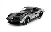 Big Time Muscle - Corvette StRay ZL-1 1969 Black 1:24 Scale Diecast Vehicle   Merchandise