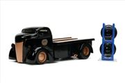 Just Trucks - Ford COE Flatbed 1947 Black 1:24 Scale Diecast Vehicle | Merchandise