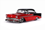 Big Time Muscle - Chevy Bel Air Hard Top 1956 Red 1:24 Scale Diecast Vehicle   Merchandise