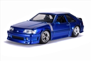 Big Time Muscle - Ford Mustang GT 1989 Blue 1:24 Scale Diecast Vehicle | Merchandise
