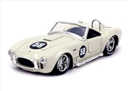Big Time Muscle - Shelby Cobra 427 S/C 1965 White 1:24 Scale Diecast Vehicle   Merchandise