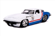 Big Time Muscle - Chevy Corvette Stingray 1963 White 1:24 Scale Diecast Vehicle   Merchandise