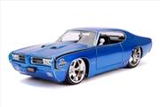 Big Time Muscle - Pontiac GTO Judge 1969 Blue 1:24 Scale Diecast Vehicle   Merchandise