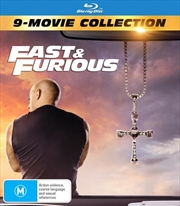 Fast and Furious 1-9   Amaray - 9 Movie Franchise Pack   Blu-ray