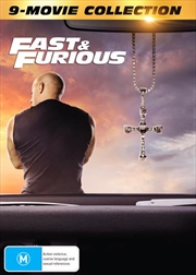 Fast and Furious 1-9   Amaray - 9 Movie Franchise Pack   DVD