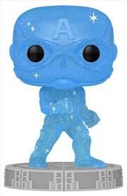 Avengers - Captain America Infinity Saga Blue (Artist) Pop! Vinyl with Protector | Pop Vinyl