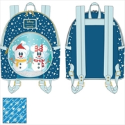 Loungefly - Mickey Mouse - Snowman Snow Globe Mini Backpack | Apparel