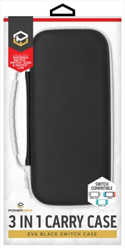 Powerwave Switch 3 in 1 Carry Case - EVA Black | Nintendo Switch