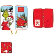 Loungefly - Dr Seuss - Grinch Loves The Holidays Zip Purse | Apparel