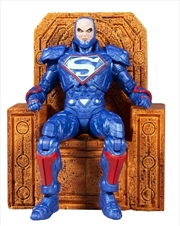"""Justice League: The Darkseid War - Lex Luthor Power Suit Blue with Throne 7"""" Action Figure 