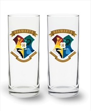 Harry Potter Crest Highball Glass 2 Pack | Merchandise