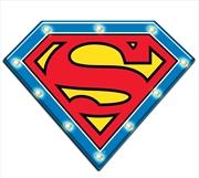 Superman Light Up Tin Man Cave Bar Sign   Accessories