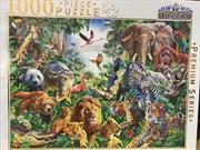 Wild Animal Collage 1000 Piece Puzzle | Merchandise