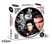 Elvis 8 Piece Coaster Set With Metal Tin | Merchandise