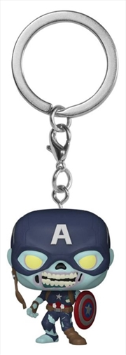 What If - Zombie Captain America Pocket Pop! Keychain | Pop Vinyl