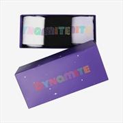 BTS - DYNAMITE JACQUARD LOGO SOCKS (3 PAIRS SET)(S/M) | Merchandise