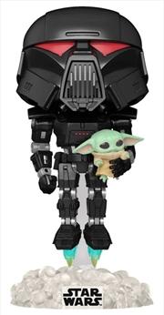 Star Wars: The Mandalorian - Darktrooper & Child Glow US Exclusive Pop! Vinyl [RS] | Pop Vinyl