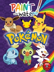 Pokemon: Paint With Water   Paperback Book