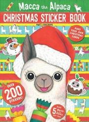 Macca The Alpaca Christmas Sticker Book   Books