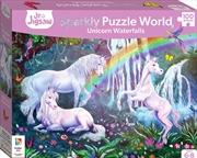 Junior Jigsaw Sparkly Puzzle World: Unicorn Waterfalls | Merchandise