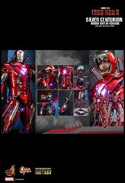 """Iron Man 3 - Silver Centurion Armor Suit-Up 1:6 Scale 12"""" Diecast Action Figure   Merchandise"""