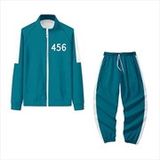 Squid Game Player Number 456 Track Set - Size XLarge | Apparel
