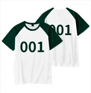 Squid Game Player Number 001 T-Shirt - Size Large | Apparel