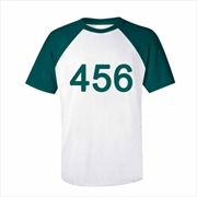 Squid Game Player Number 456 T-Shirt - Size XLarge | Apparel