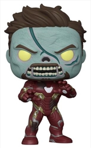 "What If - Zombie Iron Man Metallic US Exclusive 10"" Pop! Vinyl [RS] | Pop Vinyl"