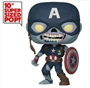 "What If - Zombie Captain America US Exclusive 10"" Pop! Vinyl [RS] | Pop Vinyl"