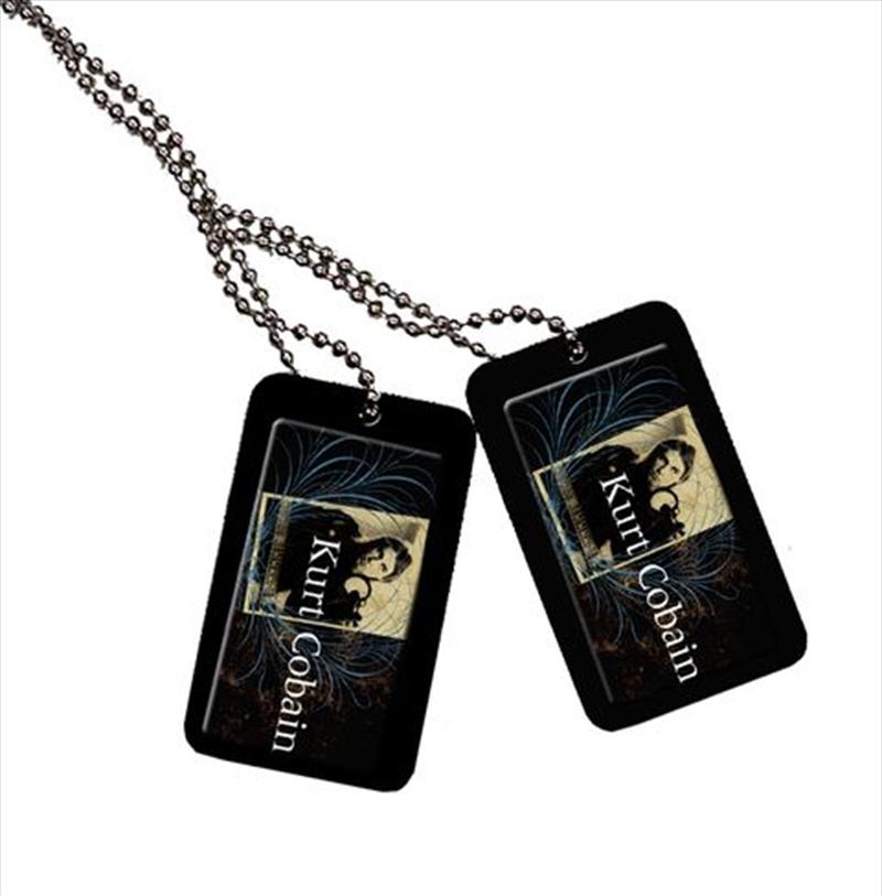 Kurt Cobain - Dogtag - Dark with blue swirls | Merchandise