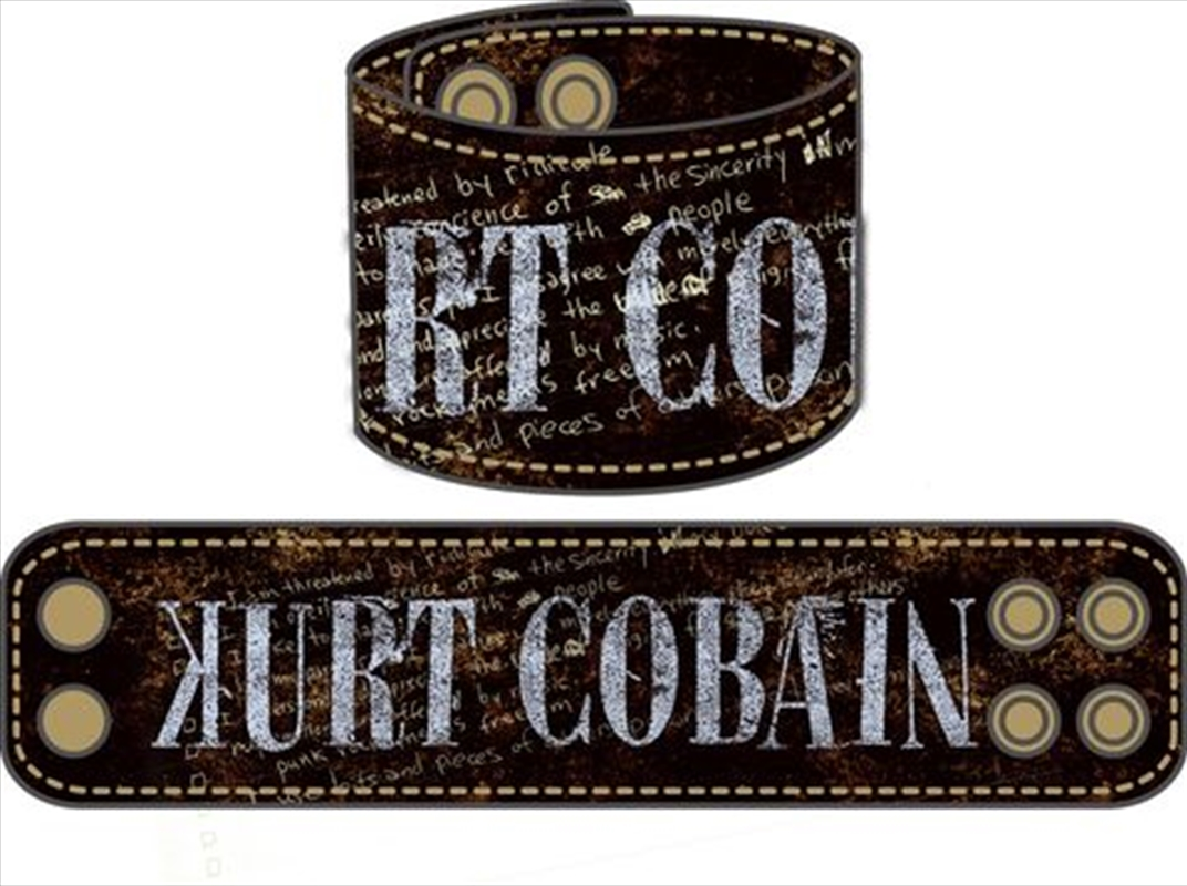 Kurt Cobain - Leather Wristband   Merchandise