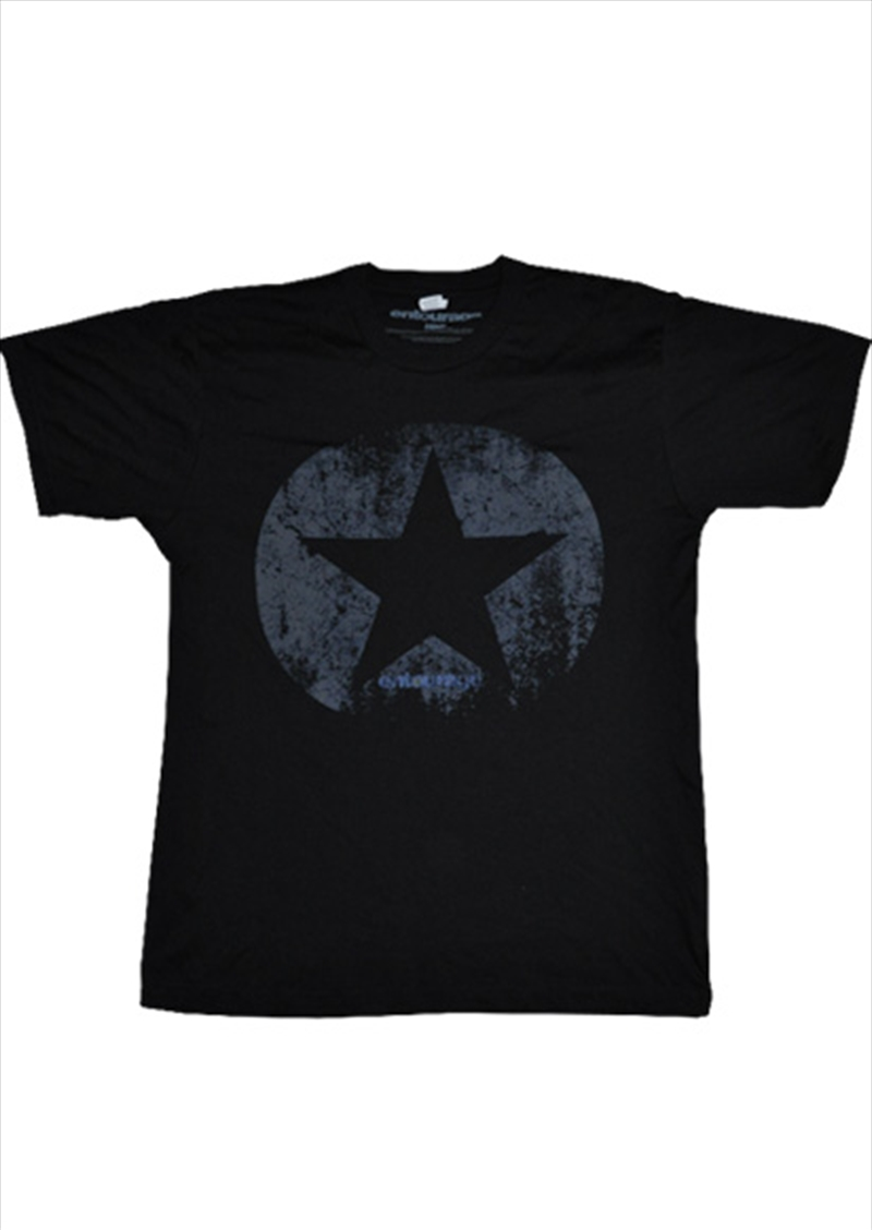 Distressed Star Black Male S | Merchandise