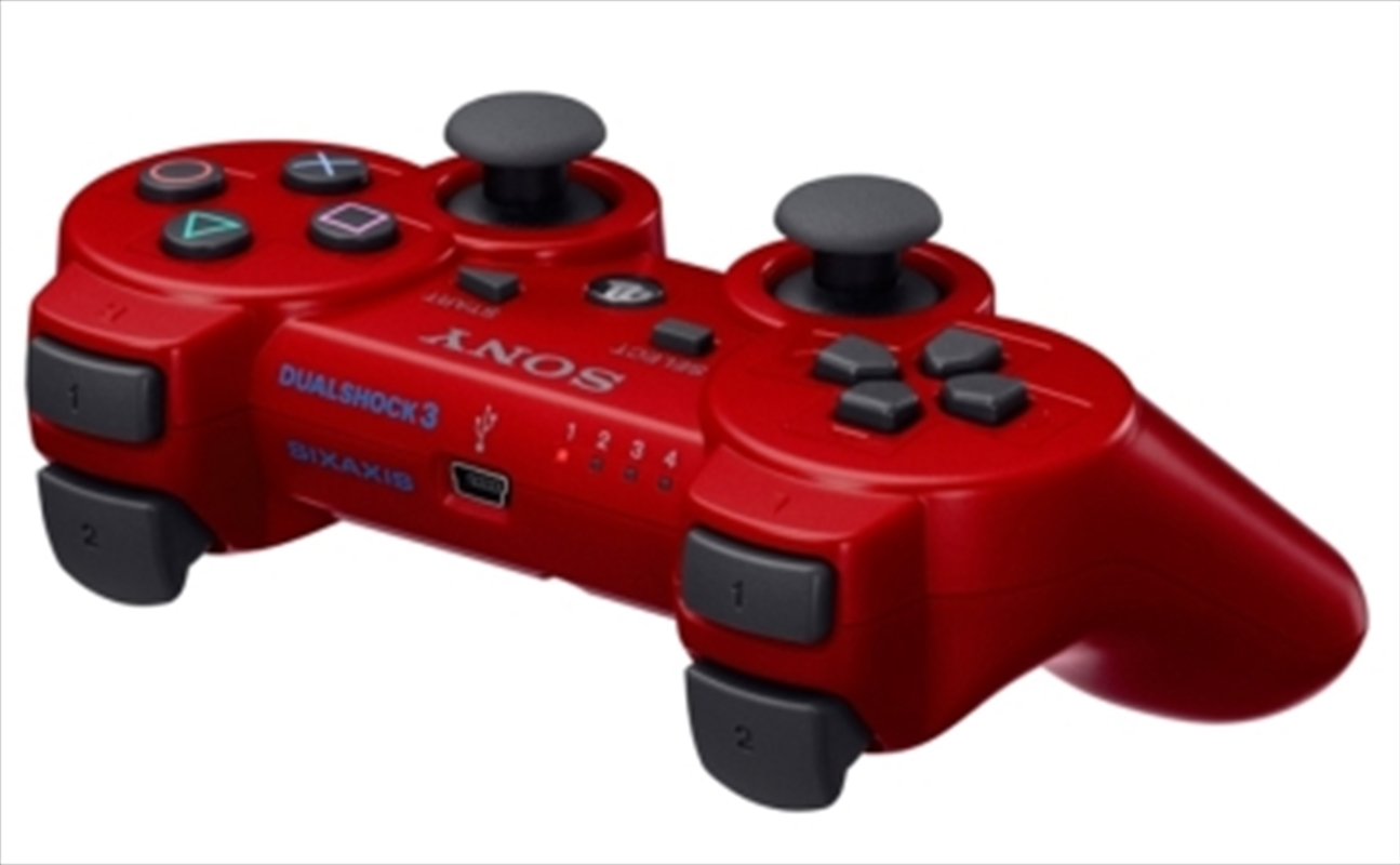 PS3 Genuine Wireless Dualshock 3 Controller Red | Games