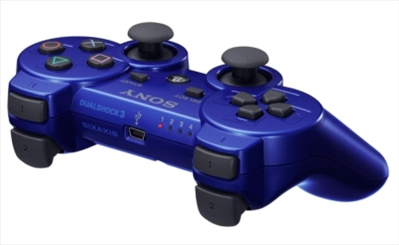 PS3 Genuine Wireless Dualshock 3 Controller Blue   Games