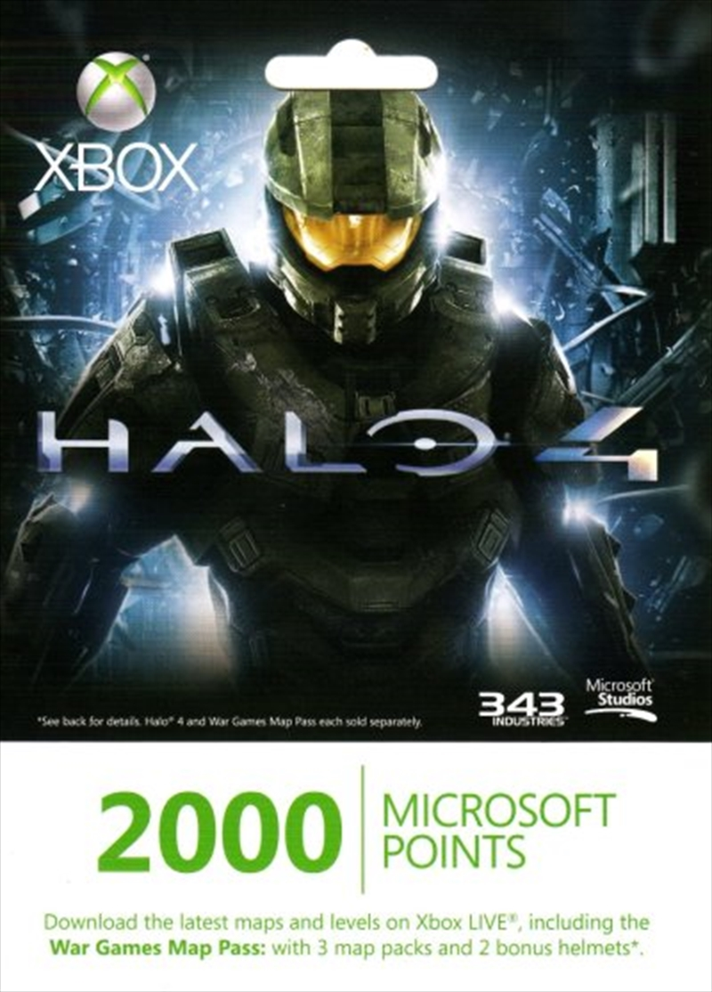 Halo 4 LIVE 2000 points (to download War Games Map Pass) Accessories