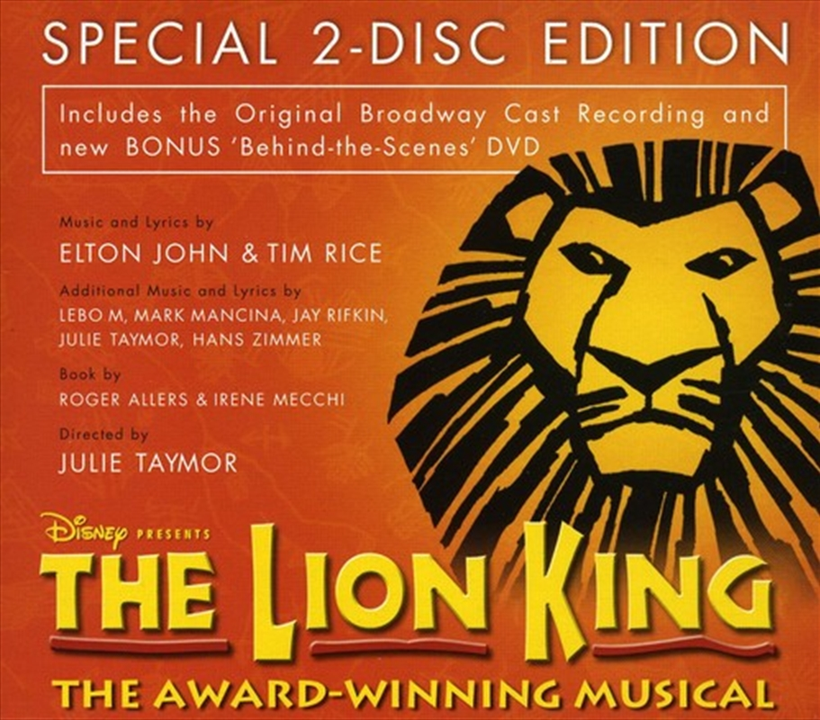 lion king  original broadway cast recording  import