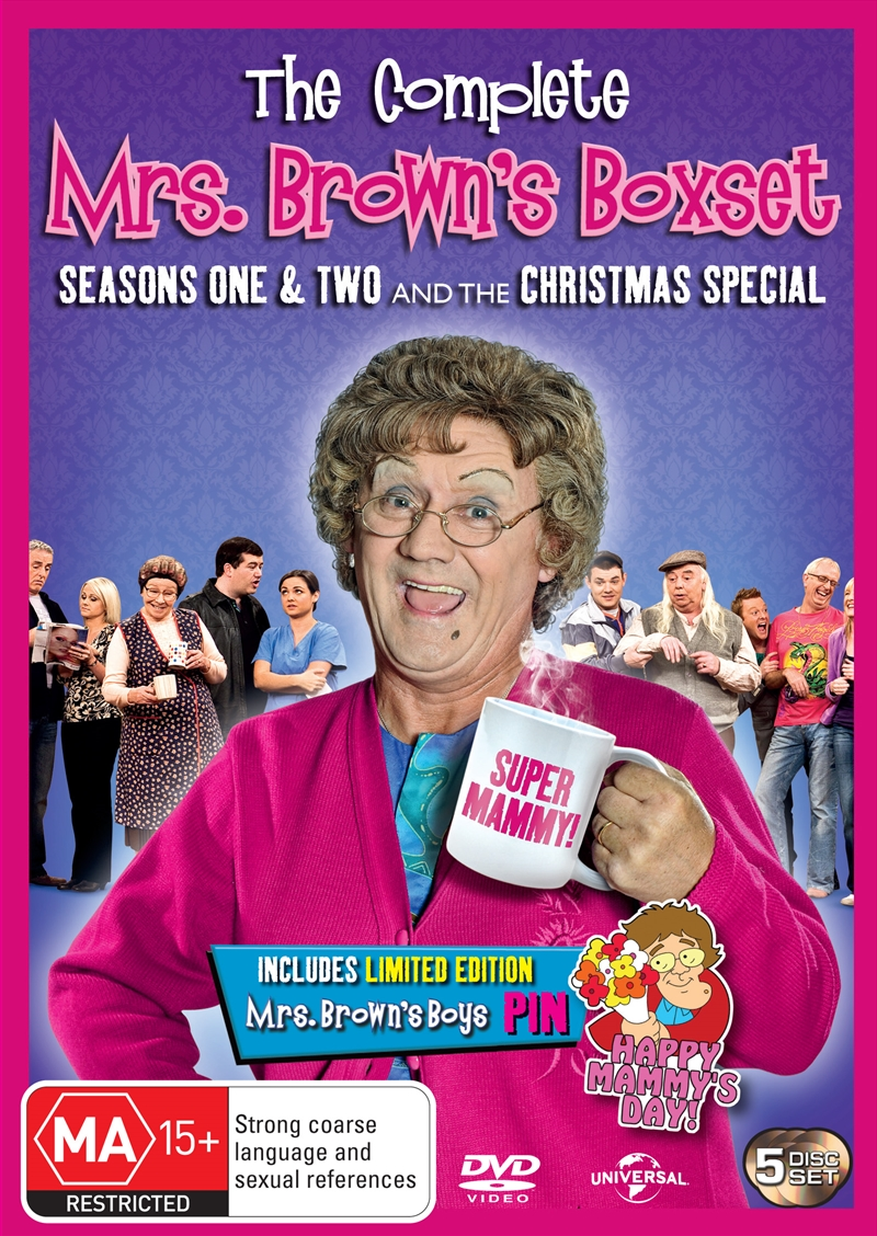 Mrs Brown's Boys; S1&2: Limited Edition With Bonus Pin